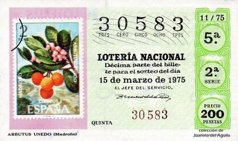 Décimo de Lotería 1975 / 11