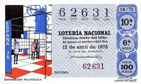 Décimo de Lotería 1975 / 14