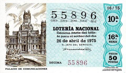 Décimo de Lotería 1975 / 16