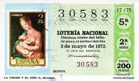 Décimo de Lotería 1975 / 17