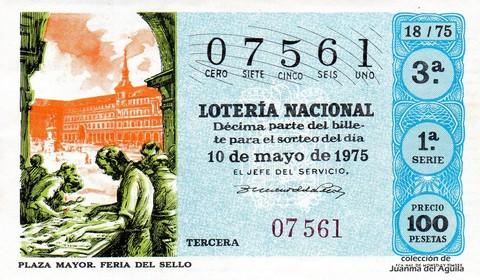 Décimo de Lotería 1975 / 18