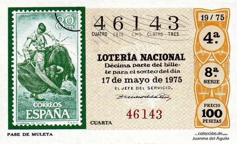 Décimo de Lotería 1975 / 19