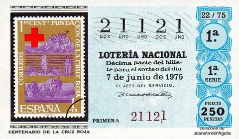 Décimo de Lotería 1975 / 22