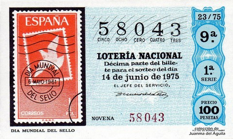 Décimo de Lotería 1975 / 23