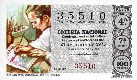 Décimo de Lotería 1975 / 24
