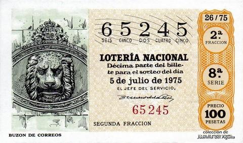 Décimo de Lotería 1975 / 26