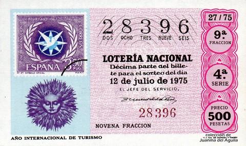Décimo de Lotería 1975 / 27