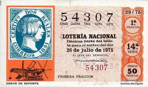 Décimo de Lotería 1975 / 29
