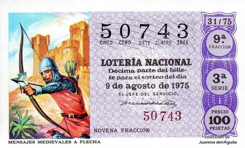Décimo de Lotería 1975 / 31