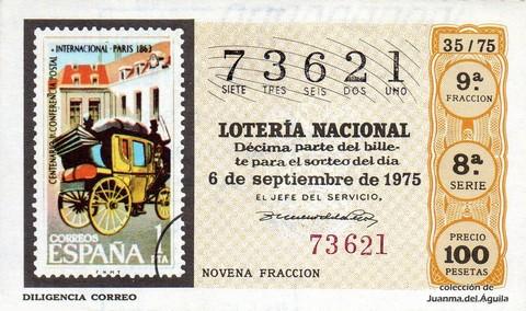 Décimo de Lotería 1975 / 35
