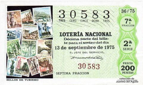 Décimo de Lotería 1975 / 36