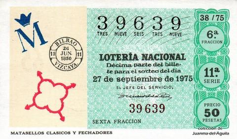Décimo de Lotería 1975 / 38