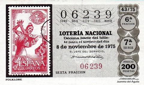 Décimo de Lotería 1975 / 43