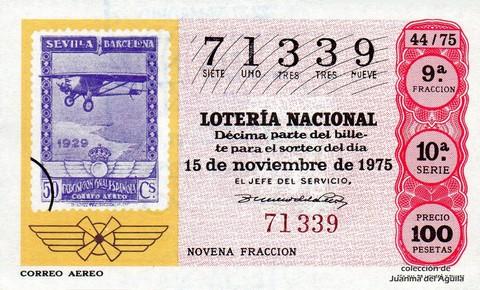 Décimo de Lotería 1975 / 44