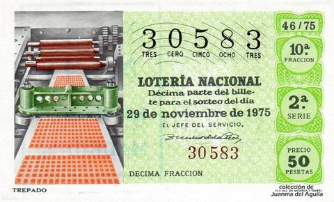 Décimo de Lotería 1975 / 46
