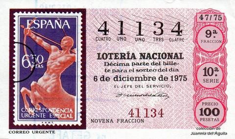 Décimo de Lotería 1975 / 47
