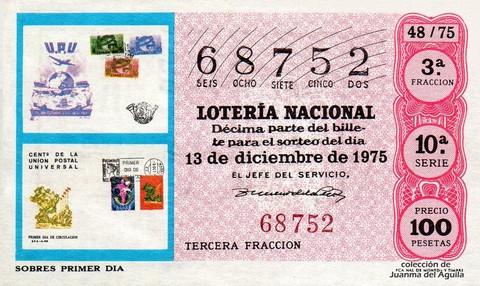 Décimo de Lotería 1975 / 48