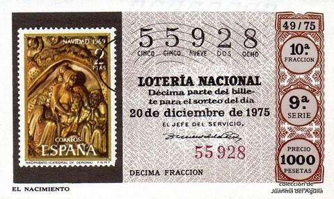 Décimo de Lotería 1975 / 49