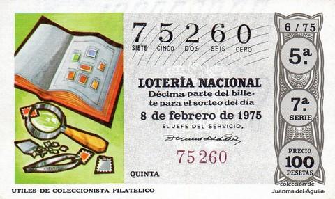 Décimo de Lotería 1975 / 6