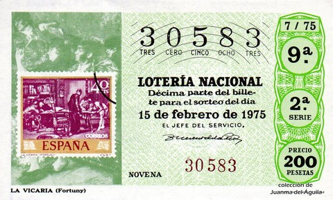 Décimo de Lotería 1975 / 7
