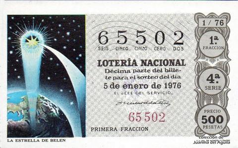 Décimo de Lotería 1976 / 1