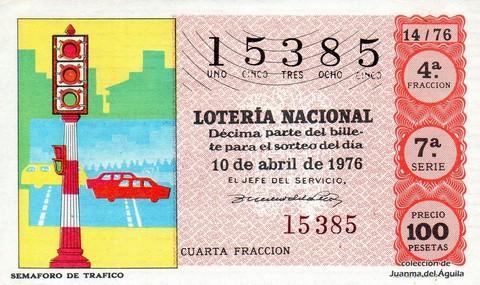 Décimo de Lotería 1976 / 14