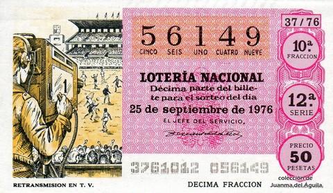 Décimo de Lotería 1976 / 37