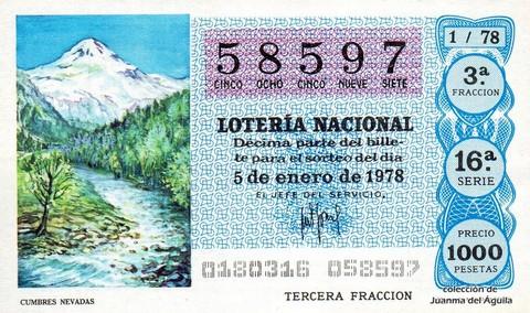 Décimo de Lotería 1978 / 1