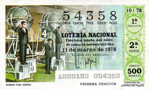 Décimo de Lotería 1978 / 10