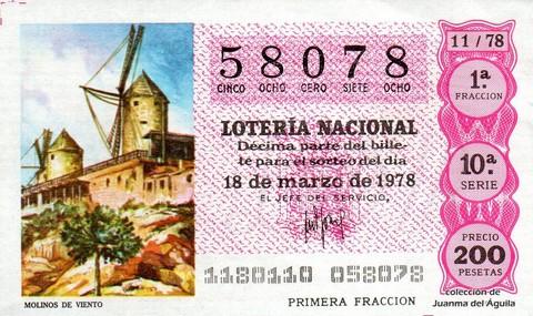 Décimo de Lotería 1978 / 11