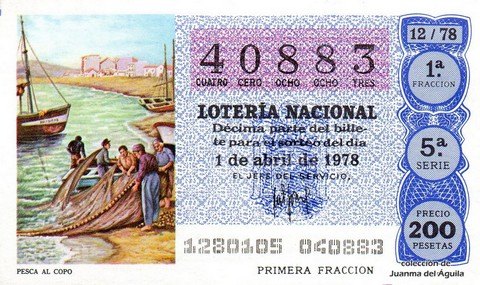 Décimo de Lotería 1978 / 12
