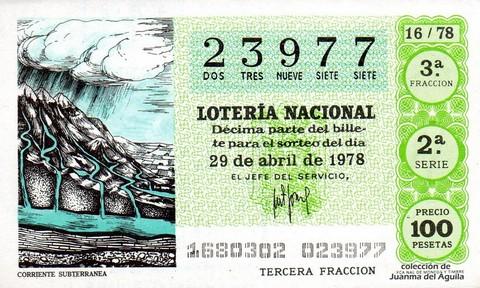 Décimo de Lotería 1978 / 16