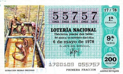 Décimo de Lotería 1978 / 17