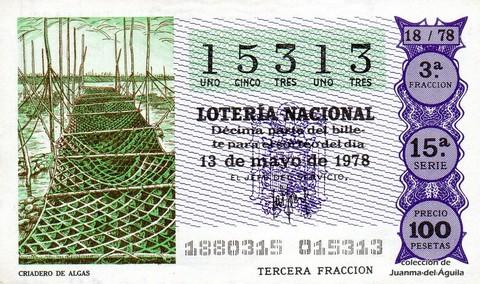 Décimo de Lotería 1978 / 18