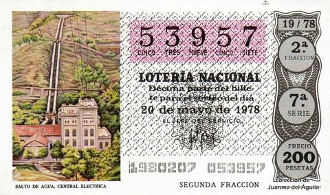 Décimo de Lotería 1978 / 19