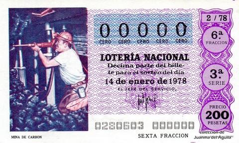 Décimo de Lotería 1978 / 2
