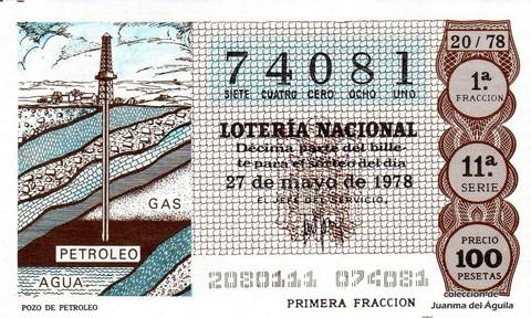 Décimo de Lotería 1978 / 20