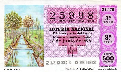 Décimo de Lotería 1978 / 21