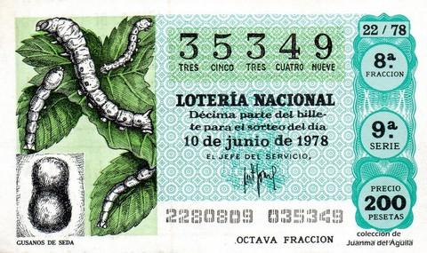 Décimo de Lotería 1978 / 22