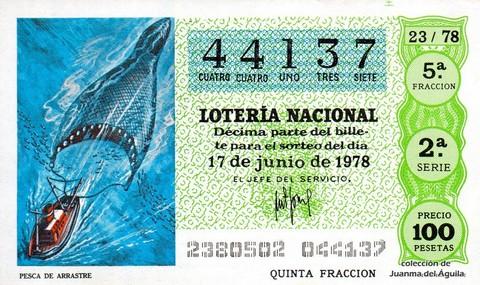 Décimo de Lotería 1978 / 23