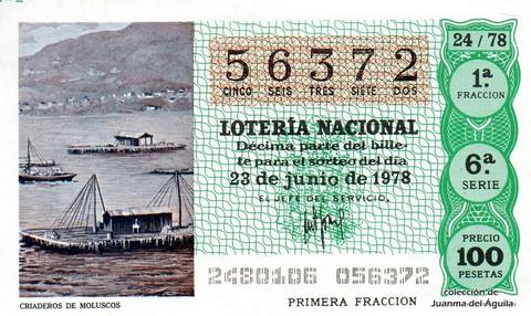 Décimo de Lotería 1978 / 24