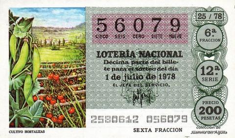 Décimo de Lotería 1978 / 25
