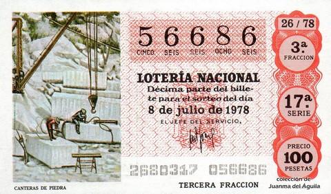 Décimo de Lotería 1978 / 26