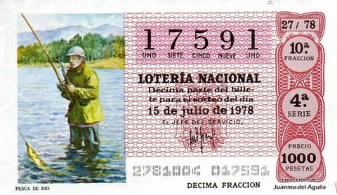 Décimo de Lotería 1978 / 27