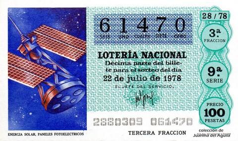 Décimo de Lotería 1978 / 28