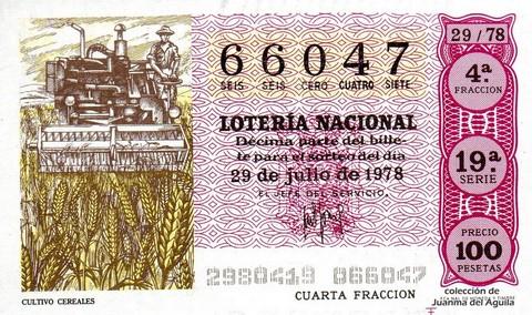 Décimo de Lotería 1978 / 29
