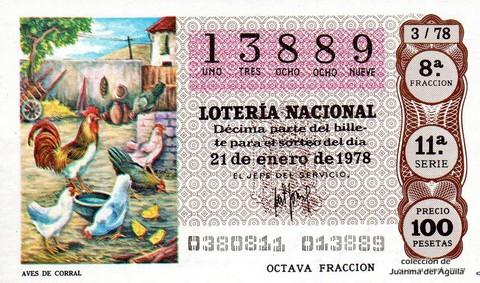 Décimo de Lotería 1978 / 3
