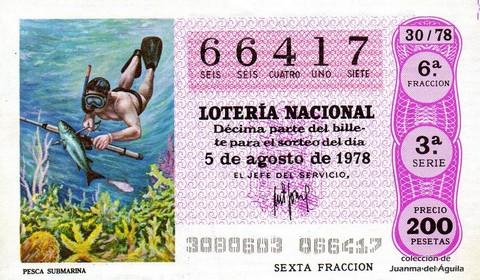Décimo de Lotería 1978 / 30