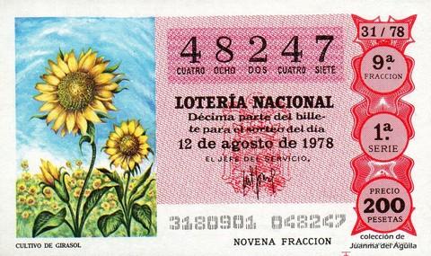 Décimo de Lotería 1978 / 31