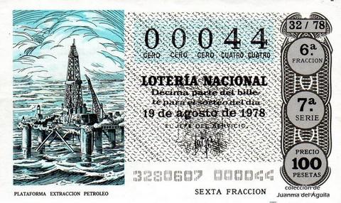 Décimo de Lotería 1978 / 32